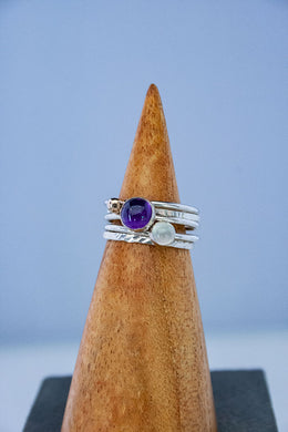 Forge & Fountain: Stacking Rings with Amethyst