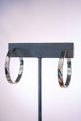 Forge & Fountain: Earrings-Hammered Hoop