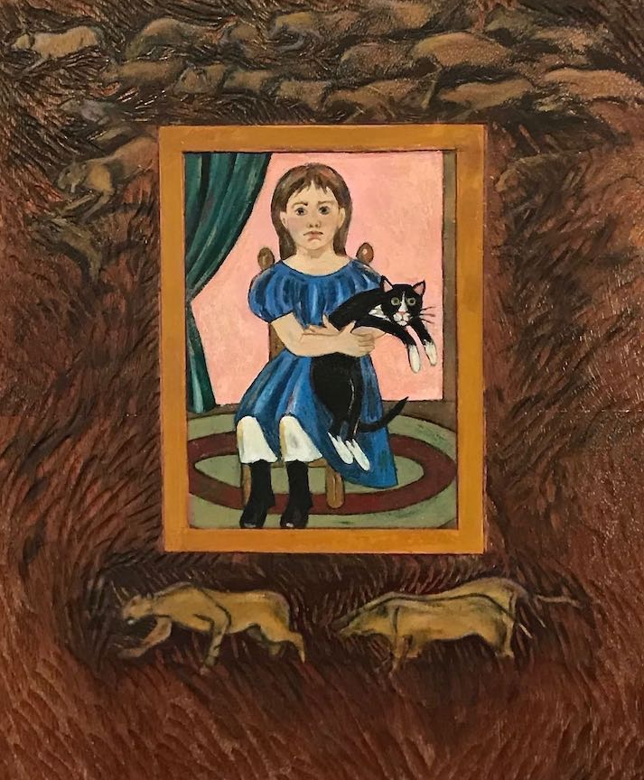 Pamela Blotner: Girl with Cat