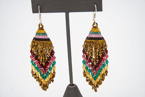 Huichol Center: Earrings-17