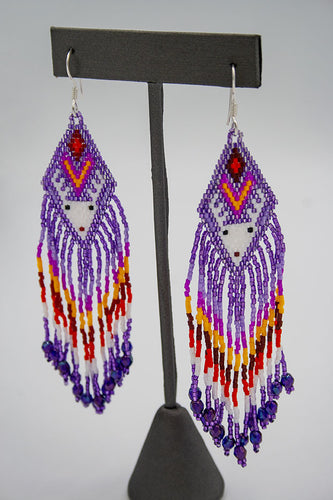 Huichol Center: Earrings-19