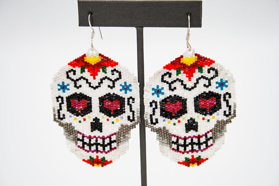 Huichol Center: Earrings-23