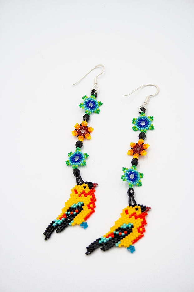 Huichol Center: Earrings-15