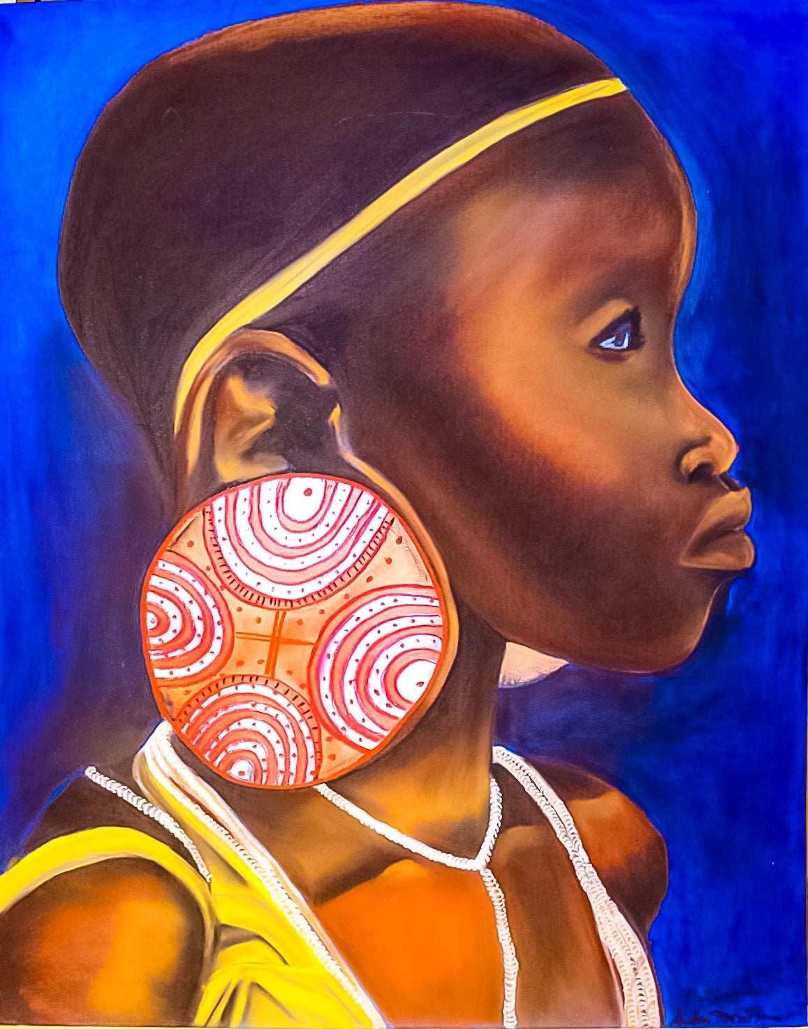 Liberation, Celebration & Defiance: Andrea McCoy Harvey-Girl with Orange Earring