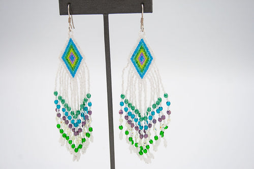 Huichol Center: Earrings-13