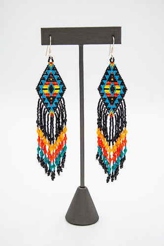 Huichol Center: Earrings-14
