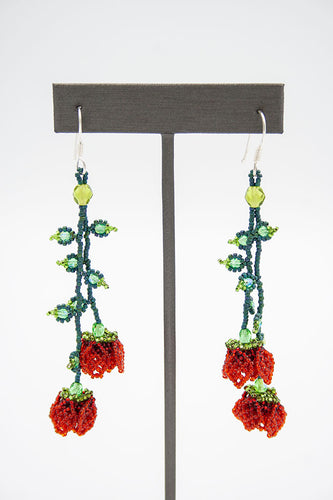 Huichol Center: Earrings-10