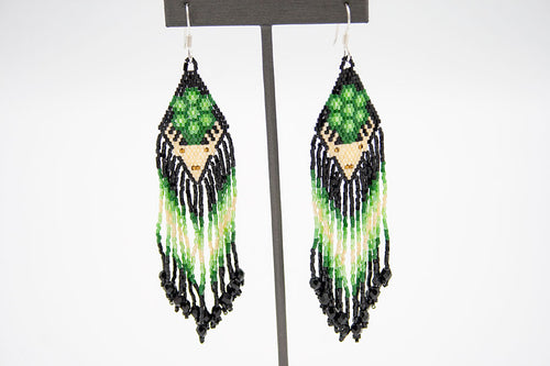 Huichol Center: Earrings-20