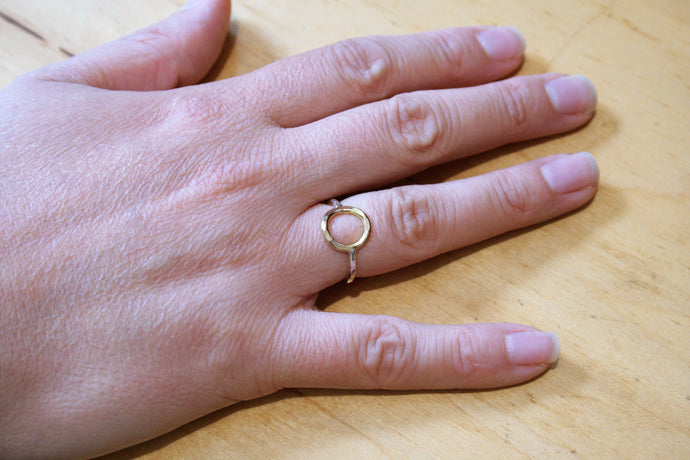 Judith Poe: (W) Gold Circle Ring