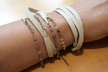 Judith Poe: Natural Leather with Labradorite Wrap