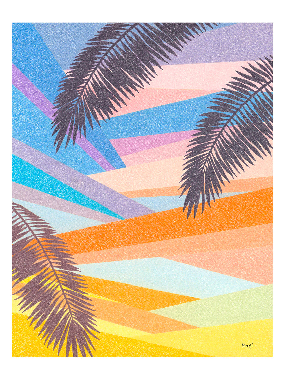 Moonji Pickering: Print - LA Sunset
