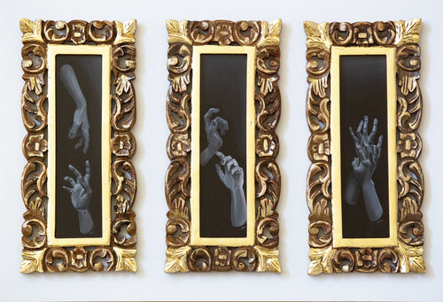 Timmy Mays: Talking Hands, (Framed Triptych)