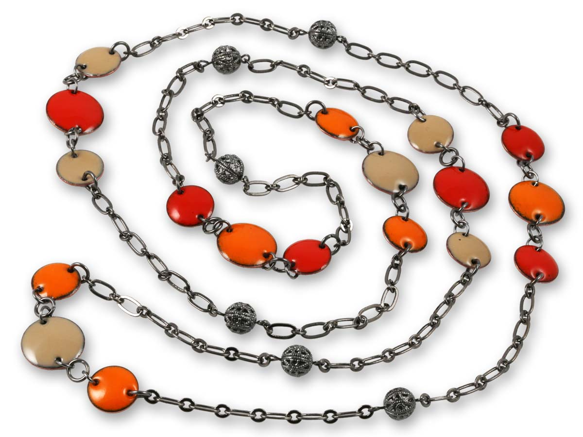Michele Dodge:(S) Vintage Look Necklace - Orange