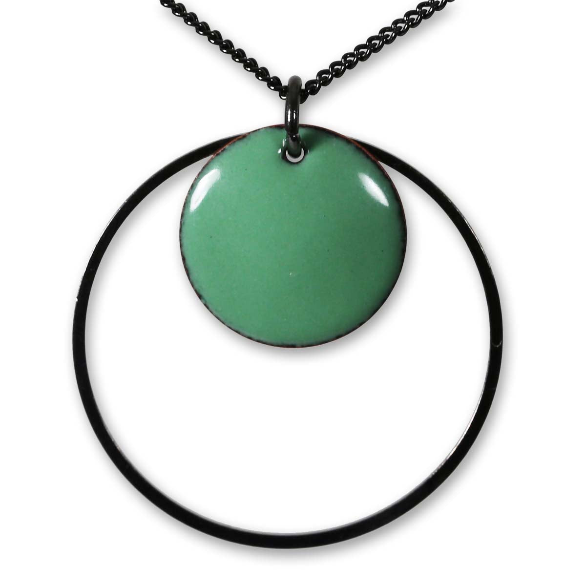 Michele Dodge:(S) Encircled Pendant - Green