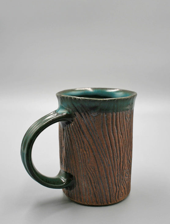 Papercut Pottery: Mug, Wood Grain Mugs