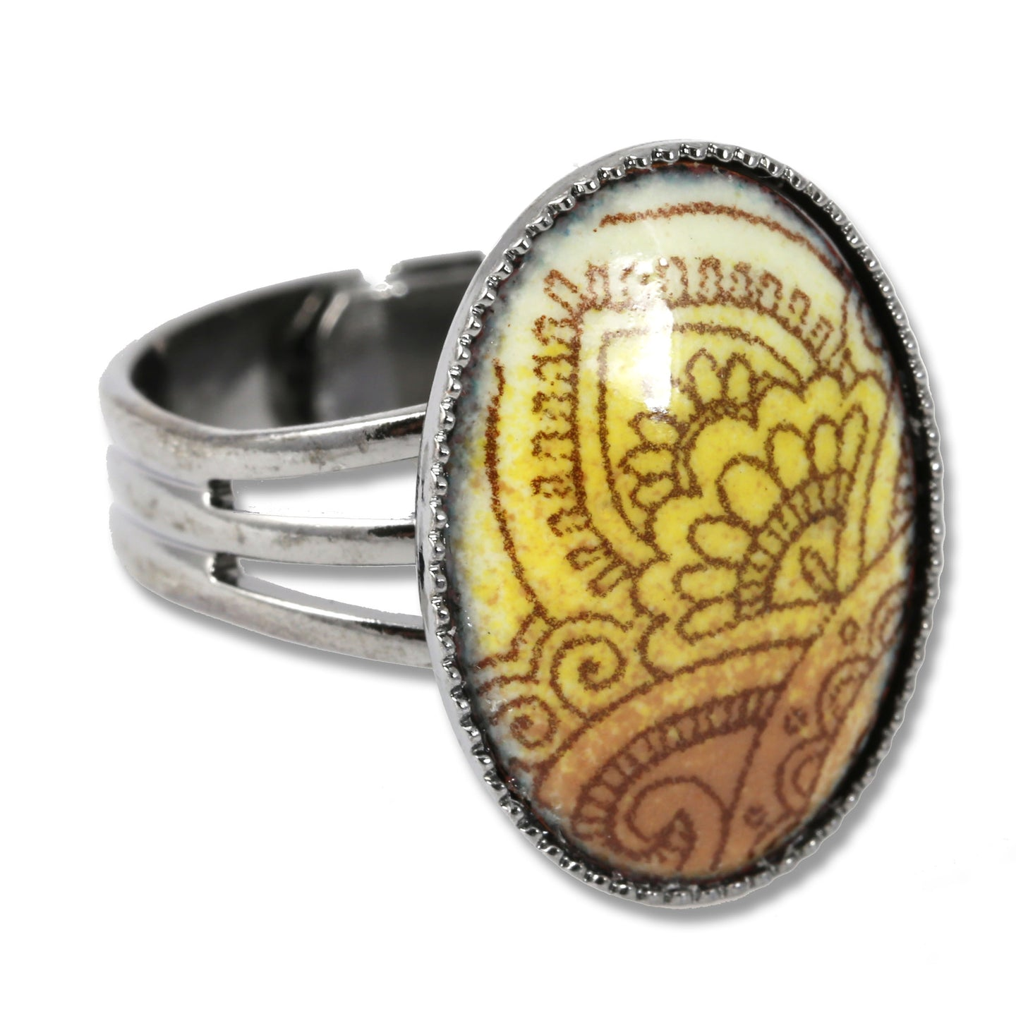 Michele Dodge:(S) Adjustable Ring - Henna