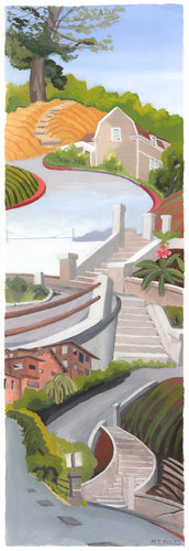 Secret Stairways: Meredith Moles: Virginia St., Berkeley (print)