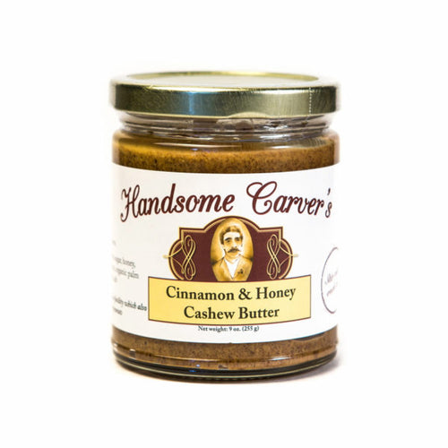 Handsome Carver's Nut Butters: Cinnamon & Honey Cashew Butter