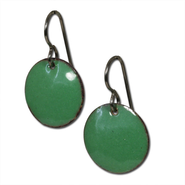 Michele Dodge:(S)Small Disc Earrings - Green