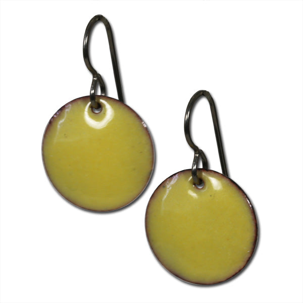 Michele Dodge:(S)Small Disc Earrings - Yellow