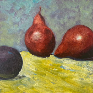 Gina Papen: Two Pears and a Plum