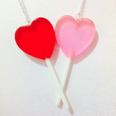 Unicorn Crafts: Heart Lollipop Necklace