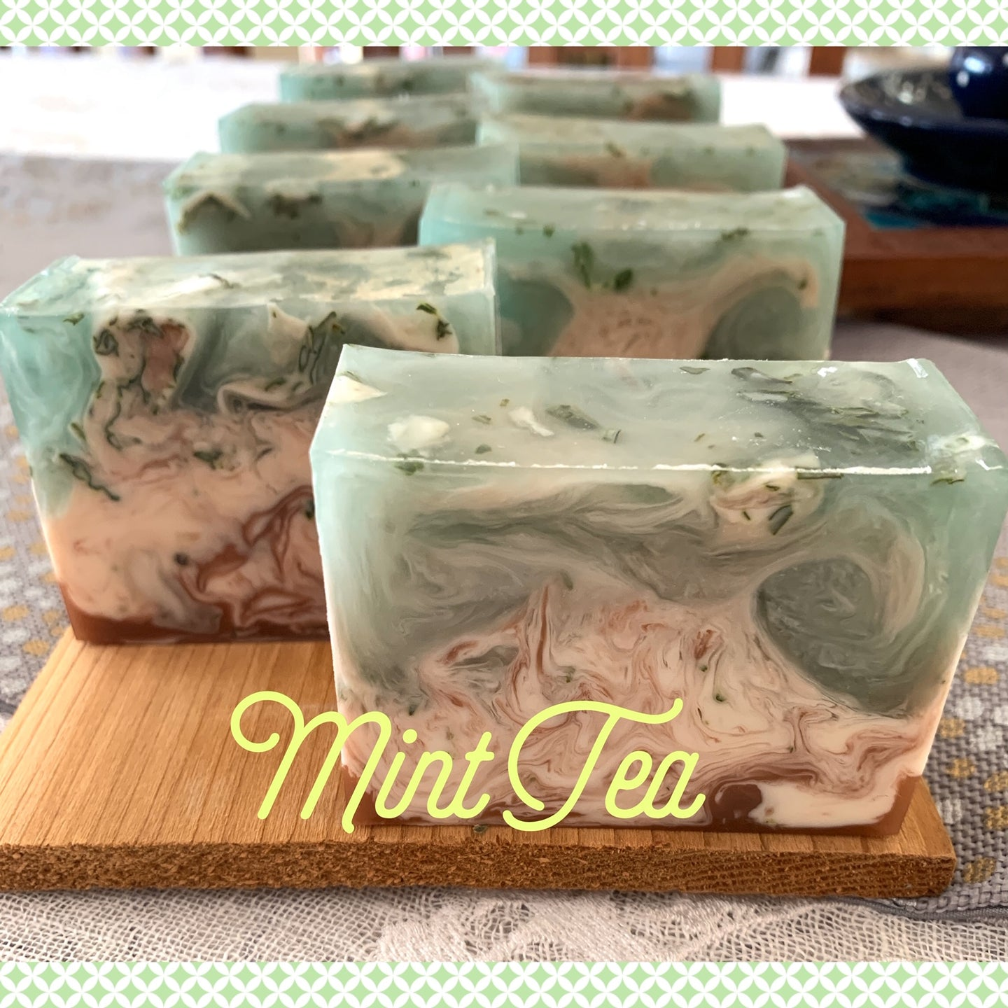 Rubina Kazi: Box of Handmade Soaps, Mint Tea