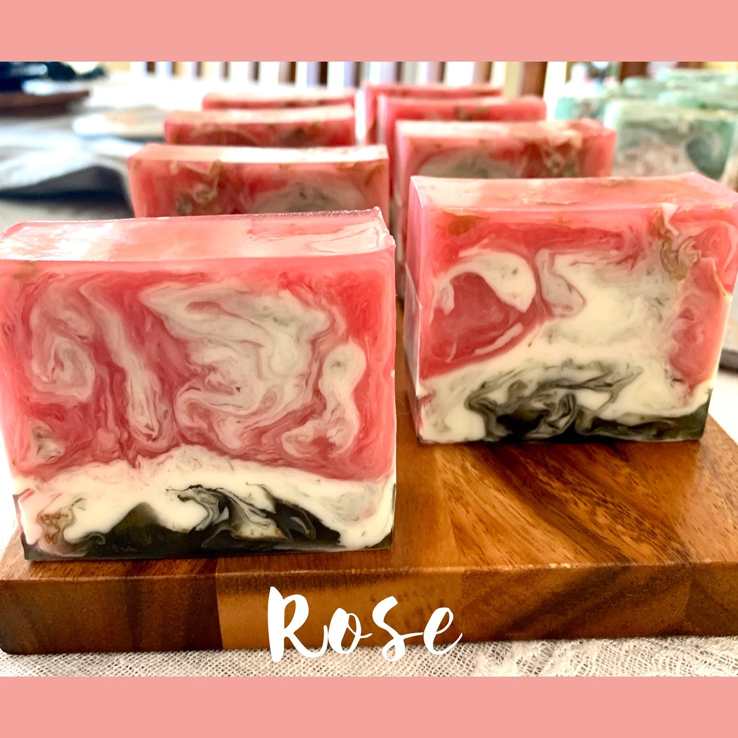 Rubina Kazi: Box of Handmade Soaps, Rose