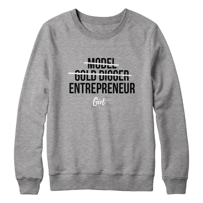 Girl CEO Sweater - Grey