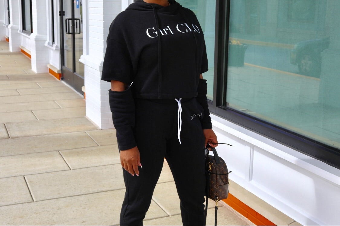 Girl CEO Cropped & Cut Hoodie