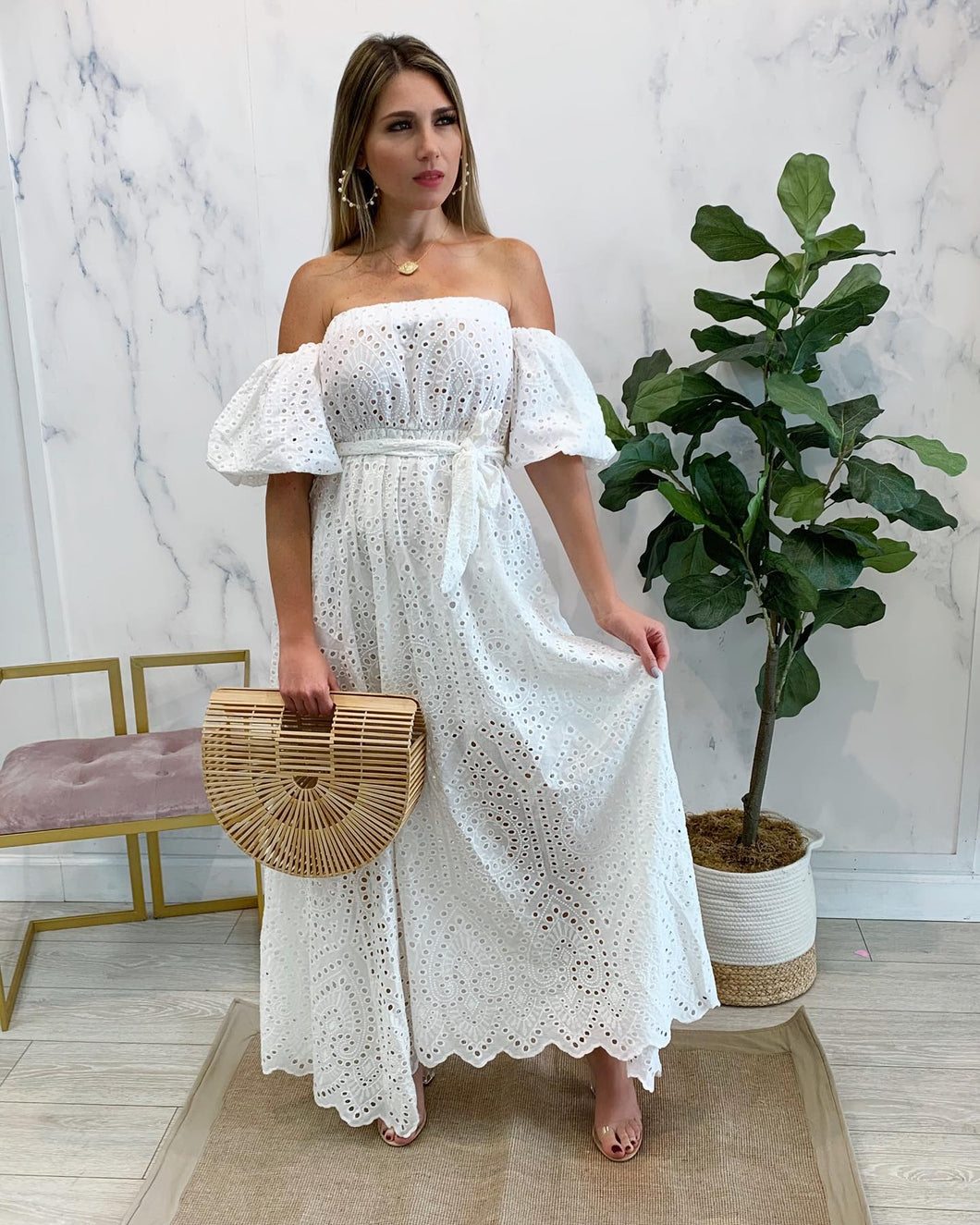 Thalassa Eyelet Dress