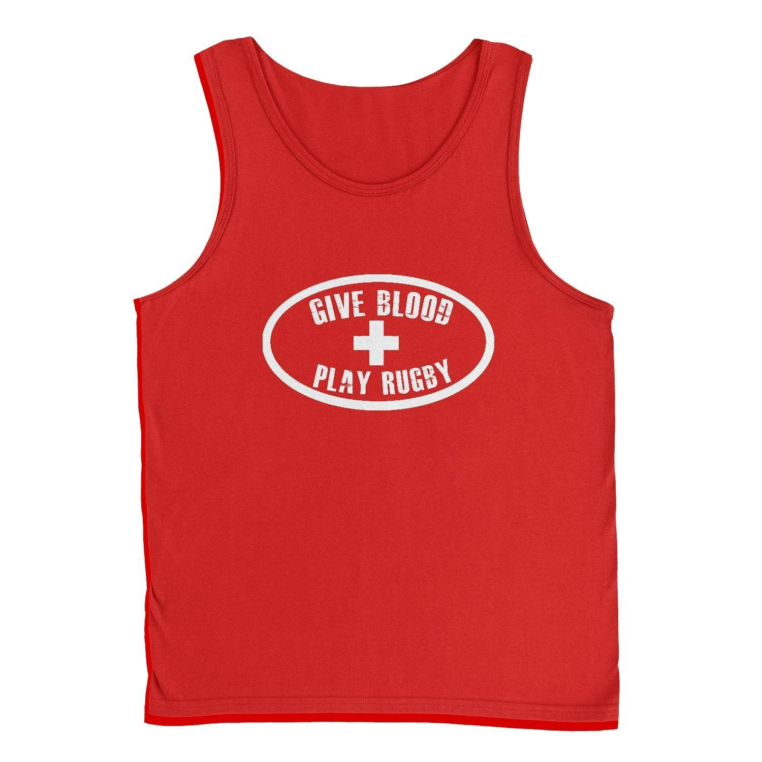 Graphic Tees - Give Blood Play Rugby Tank Top