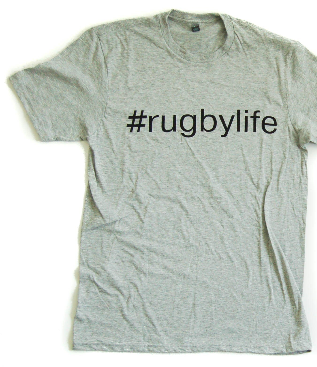 Graphic Tees - #RugbyLife Tee Shirt