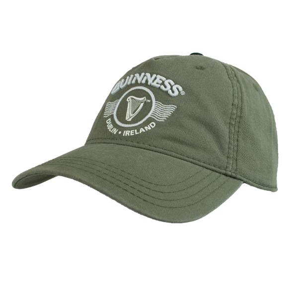 Hat - Guinness Green Embroidered Harp Graphic Cap