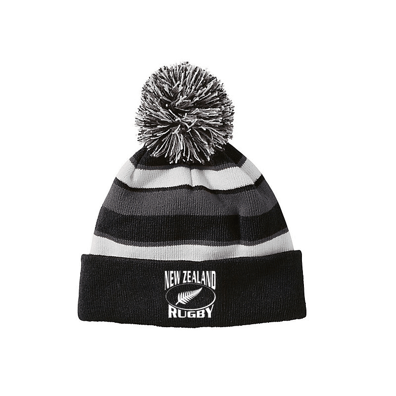 Hat - New Zealand Rugby Pom Pom Hat