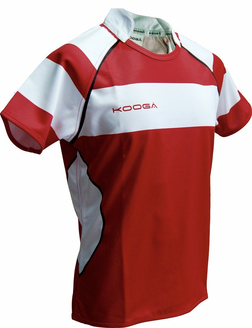 Match Apparel - Kooga Cardiff I Rugby Jersey (Maroon White): Clearance Set