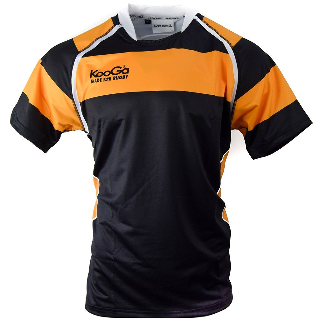 Match Apparel - Kooga Cardiff II Rugby Jersey (Black Gold): Clearance Sets