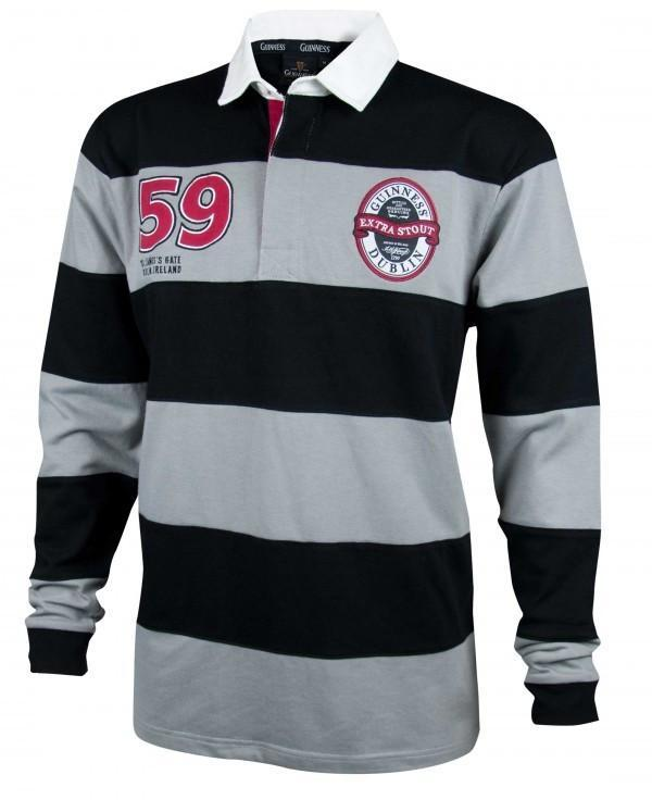 Pitchside - Guinness Grey & Black Striped Rugby Jersey