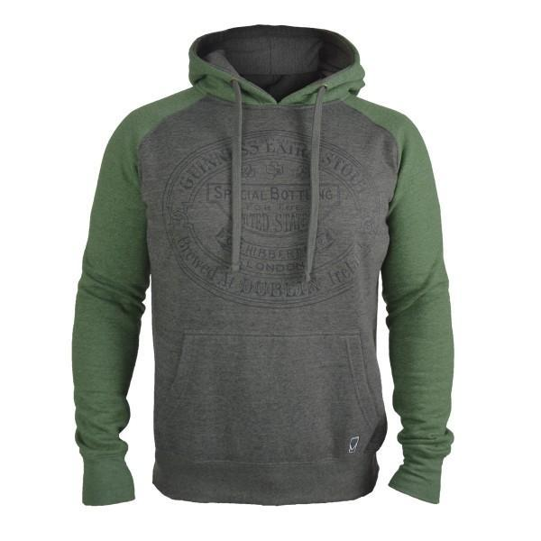 Pitchside - Guinness Grey & Green Hoodie