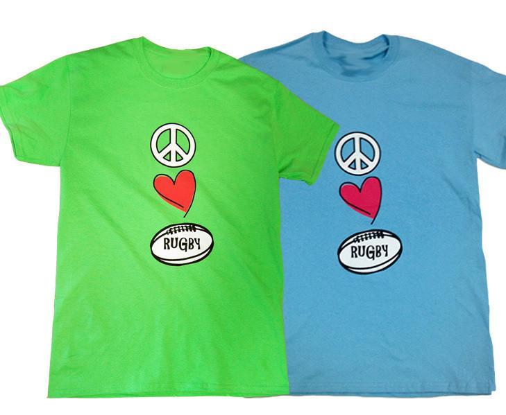 Pitchside - Peace Love Rugby Tee