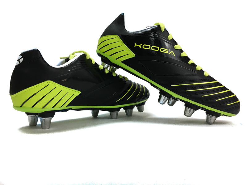 Rugby Boots - Kooga Advantage Rugby Boot (Black Lime)