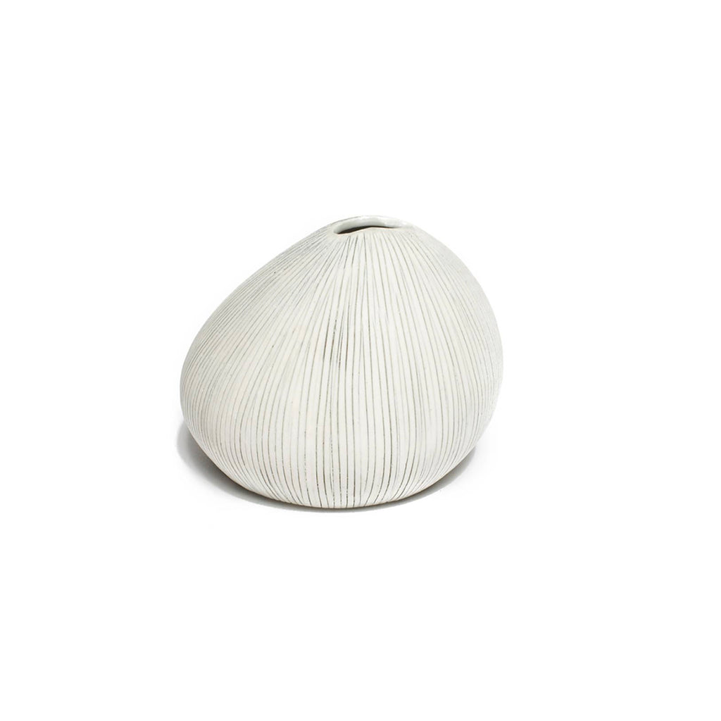 Asti vase (grey stripes)