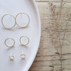 Round flat earrings (silver)