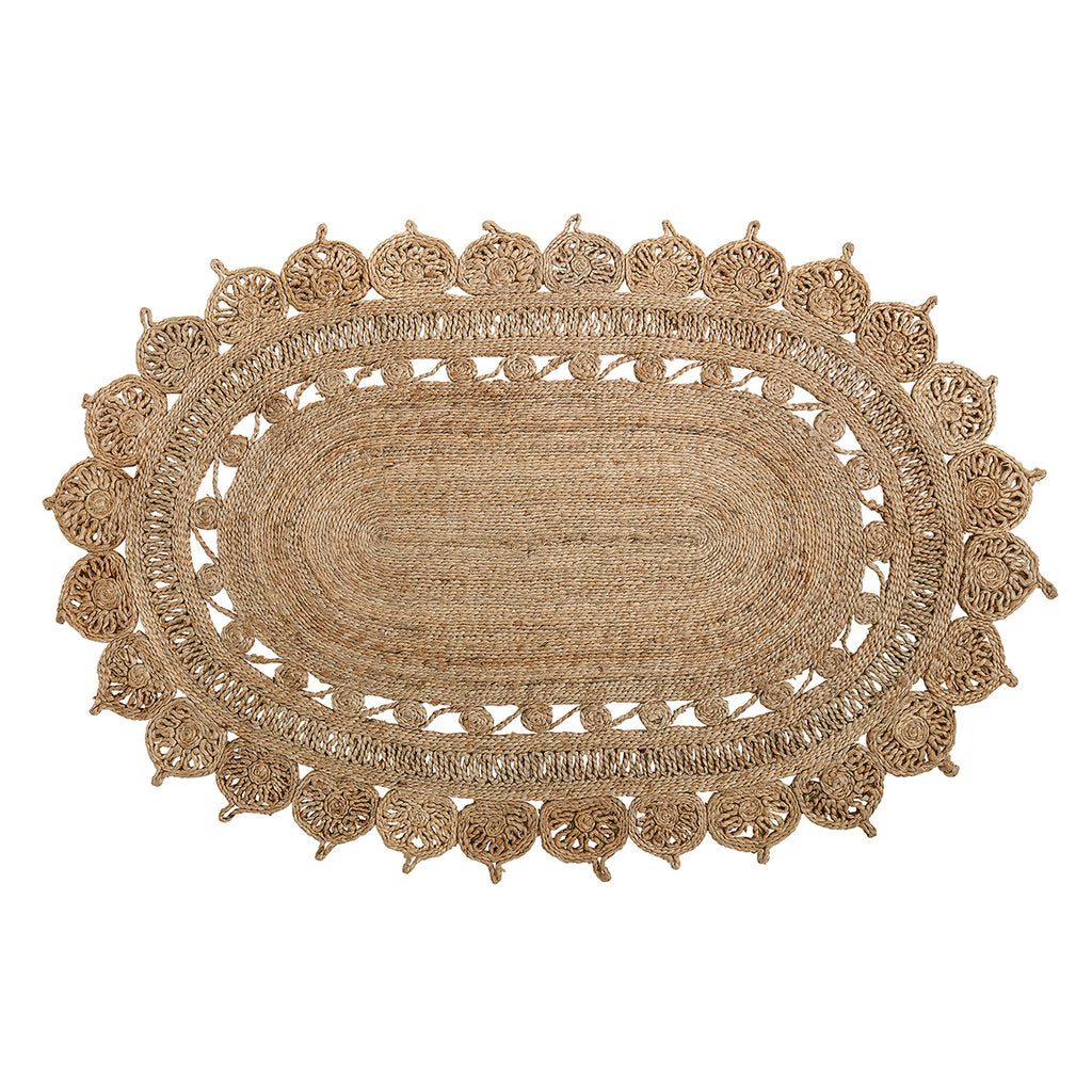 Coiled jute rug (oval)