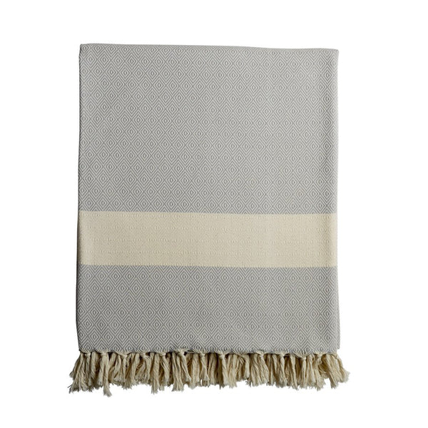 Damla throw (light grey)
