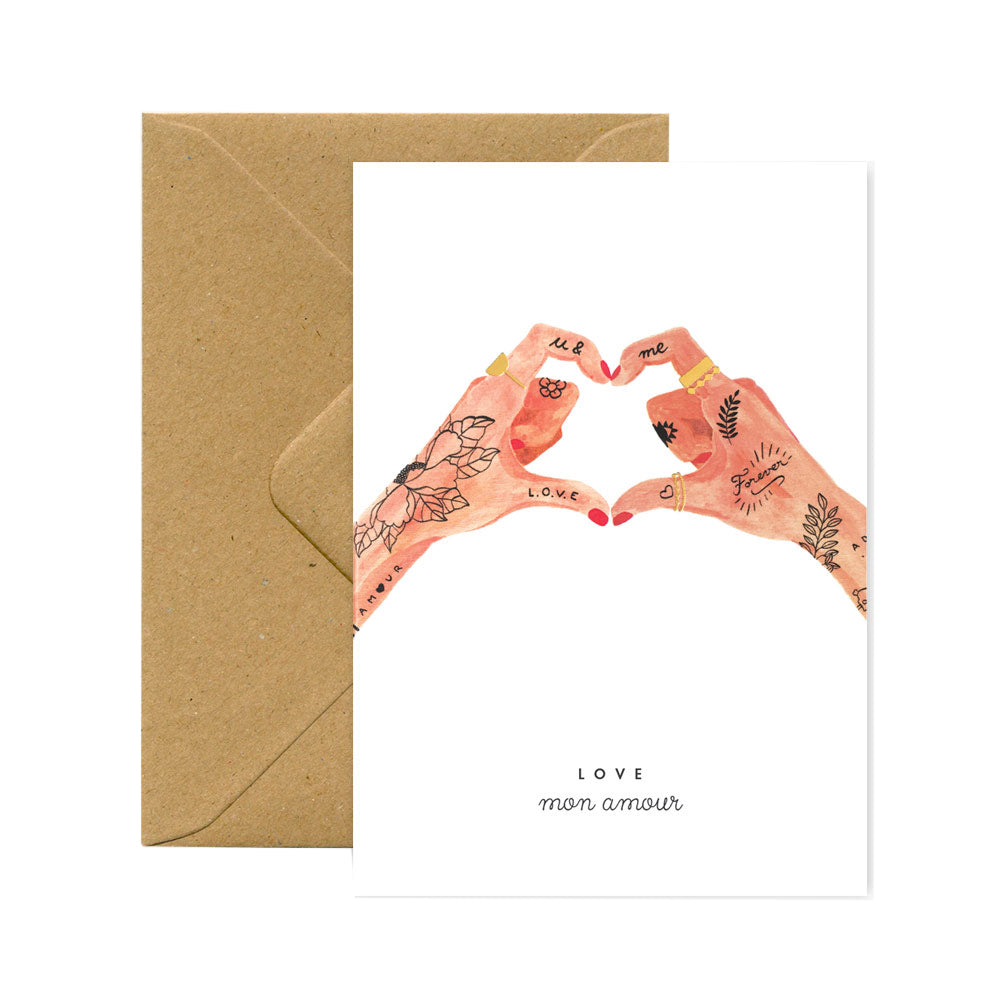 Hands of love card