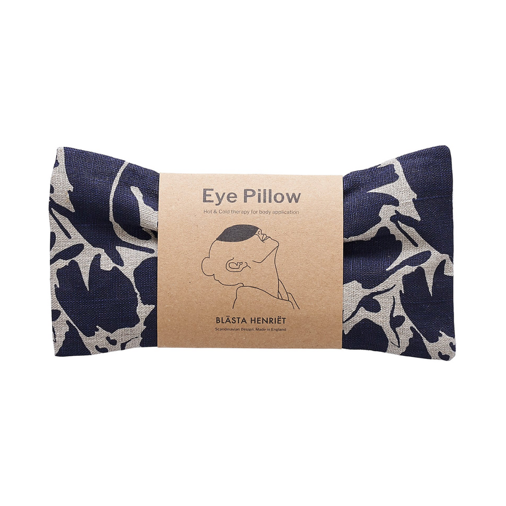 Linen eye pillow blue