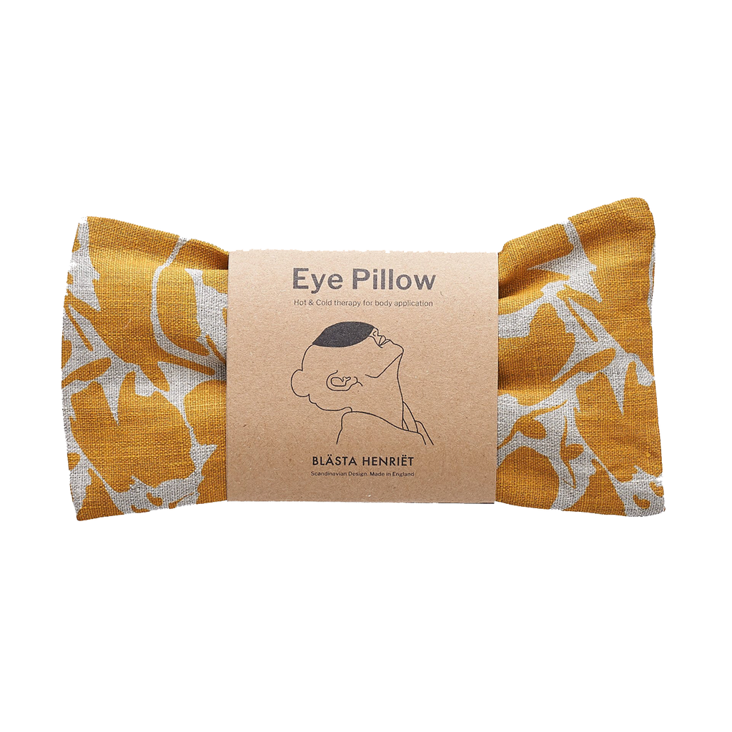Linen eye pillow yellow