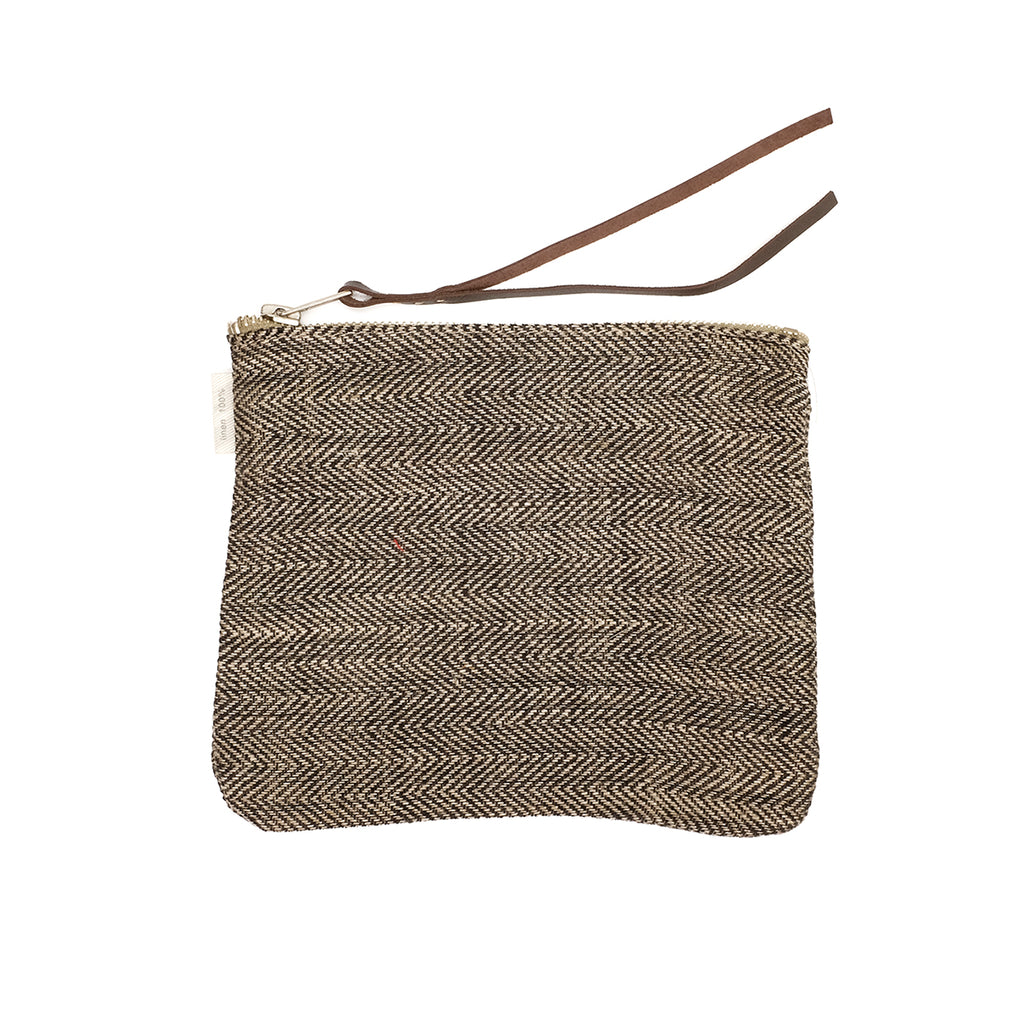 Small Canna linen pouch (herringbone)