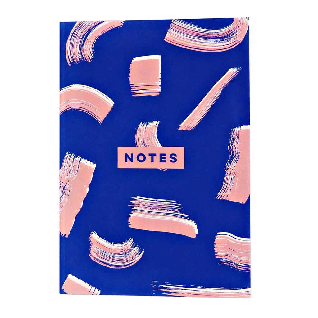 Blue shadow brush notebook